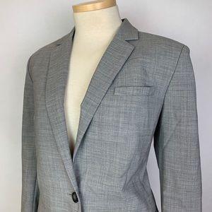 Banana Republic Womens Grey Blazer Stretch Wool 6